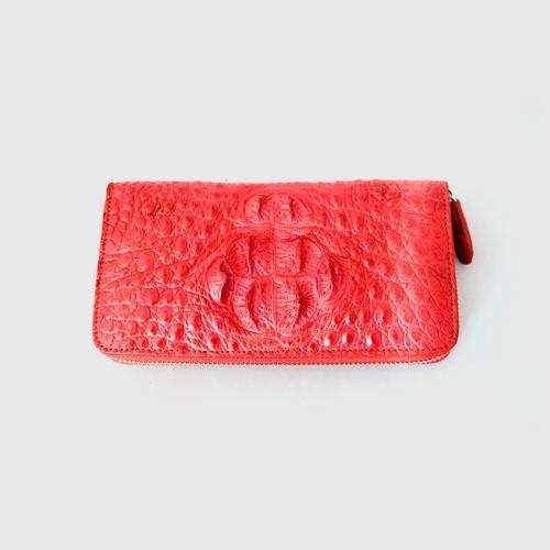 JK Zippy Compact Medium Wallet with Red Hornback Skin - Model 20
