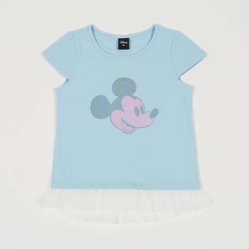 迪士尼 (Disney) 米老鼠女童T恤  浅绿色 - XL码