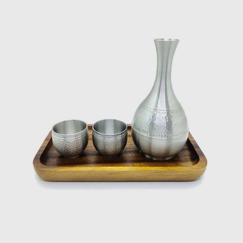 BANGKOK PEWTER Sake Set Hammered