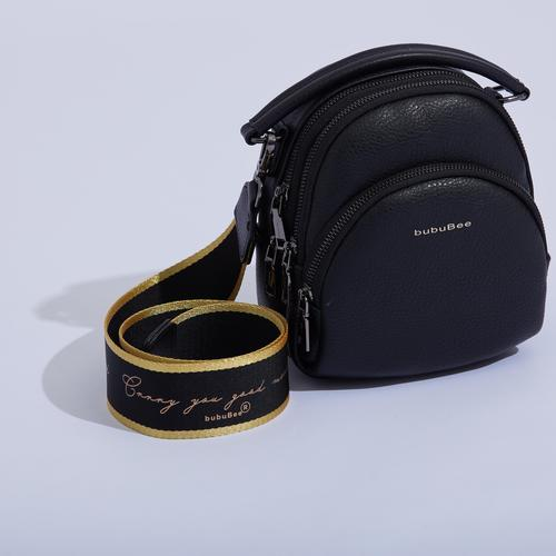 BUBUBEE PAULA M BAG (BLACK) W19x H20x D11 CMS
