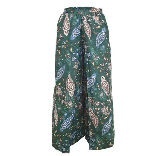 WATER SCENT  WIDE LEG PANTS CLASSIC - GREEN (Free Size)