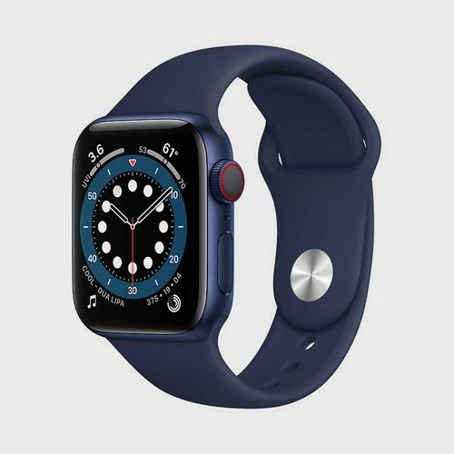 Apple Watch Series 6 (GPS + Cellular) Blue Aluminum Case with Deep Navy Sport Band(40mm)