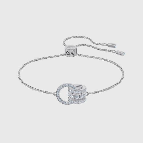 SWAROVSKI Further Bracelet, White, Rhodium plated - Size M
