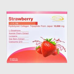 Diva Collagen Tripeptide Strawberry Flavour (Dietary supplement product) 180g. (10 Sachets)