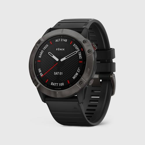 GARMIN fēnix 6X (Sapphire Carbongray with Black Band)