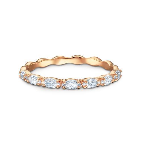 SWAROVSKI Vittore Marquise Ring, White, Rose-gold tone plated  - Size 52