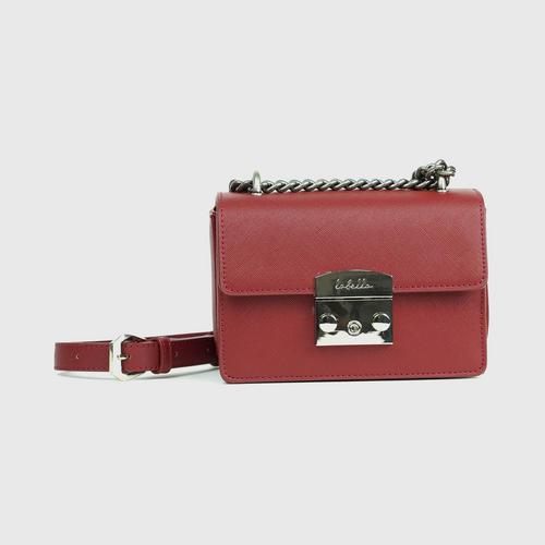 LABELLA LUNA SHOULDER BAG - BURGUNDY