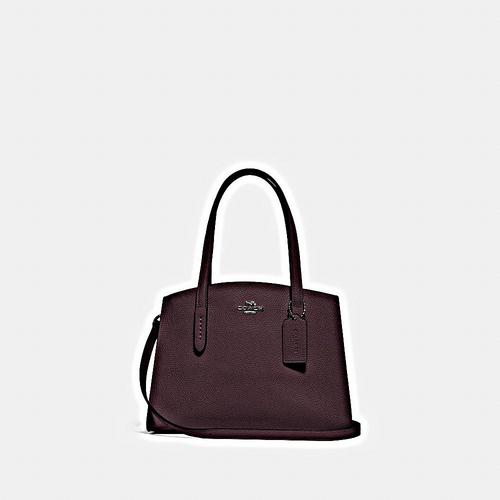 COACH Polished Pebble Leather Charlie 28 Carryall - GM/Oxblood