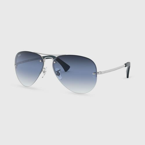RAYBAN Silver Clear Gradient Blue