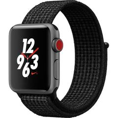 APPLE WATCH Series3 GPS+Cellular Nike+ 38 mm Space Gray Aluminum Case with Black/Pure Platinum Nike Sport Loop
