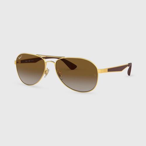 RAYBAN Gold Gradiant Male Sunglass