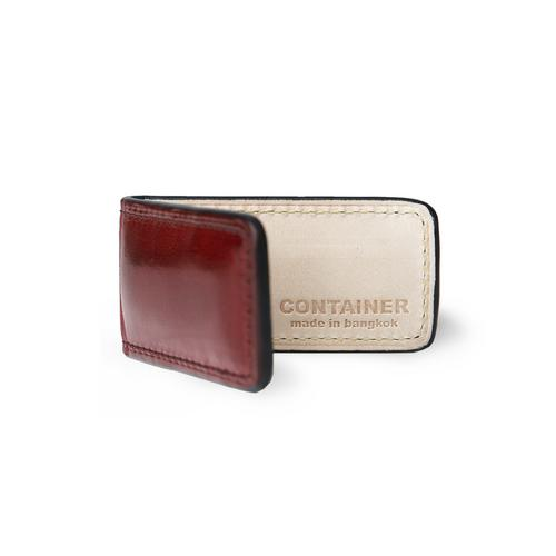 CONTAINER Magnet Money Clip - Burgundy