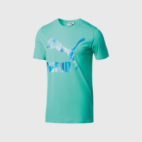 PUMA Men's T-Shirt M/Cloud Pack Graph Blue Turquoise SIZE S UK