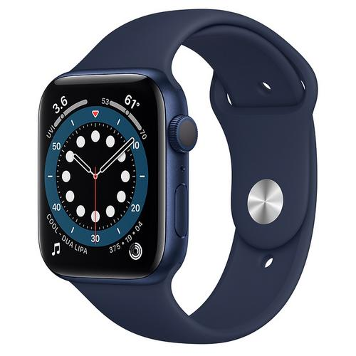 Apple Watch Series 6 (GPS) Blue Aluminum Case with Deep Navy Sport Band(44mm)