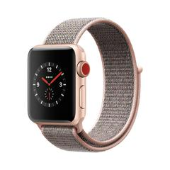 APPLE WATCH Series3 GPS+Cellular 38 mm Gold Aluminium Case with Pink Sand Sport Loop