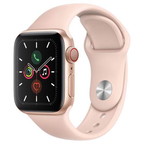Apple Watch Series 5 Gold Aluminum Case with Sport Band (Pink)