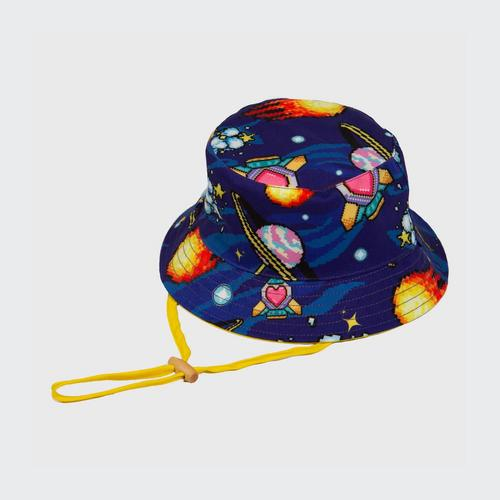 LOLLIPOP Insert Coin Join In Collection 16-Bit Galaxy Bucket Hat - One Size