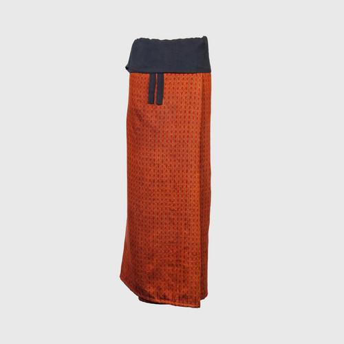 WANPEN THAISILK - Silk skirt pants Deep-fried Mee pattern Free size