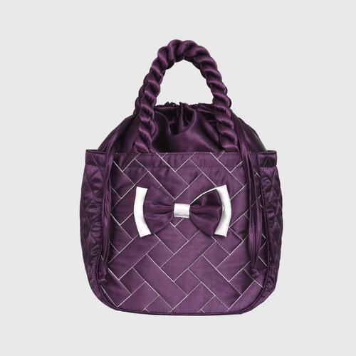 AIYA Satin Brick QPP Design 038  Bag - PUPPLE