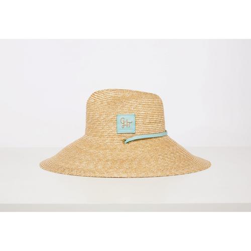 CHATO STUDIO  Straw Hat Blue  (Head Round) 58  x (Brim) 13 cm.