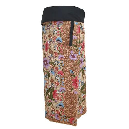 WATER SCENT SARONG DESIGN NO.1 CREAM -Free Size