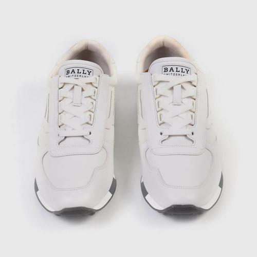 BALLY Men's Galaxy Gavino Retro Leather Sneakers White-7