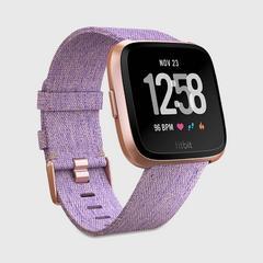 FITBIT Versa™ Watch - Lavender Woven/Rose God Aluminum