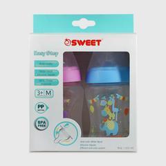SWEET 8盎司宽乳奶瓶(粉红色和蓝色)