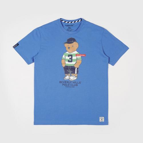 BEVERLY HILLS POLO CLUB  T-Shirt - Blue - M