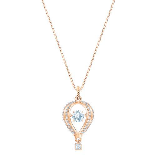 施华洛世奇INTO THE SKY 链坠, 白色, 镀玫瑰金色调 长度: 38 厘米 链坠: 2.5x1 厘米