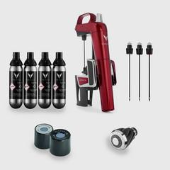 Coravin Model Two Elite - Candy Apple Red Bundle Pack (Exclusive)