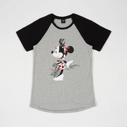 Disney Women T-Shirt Minnie-3 Grey-M