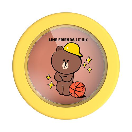 MILLE Line Friends l Mille Lovable Blusher 5g #01 Brown