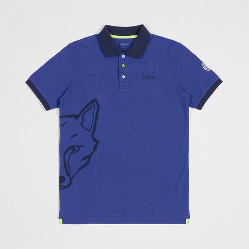Leicester City Football Club Boll & Rava Fox Logo Navy Polo Shirt size S