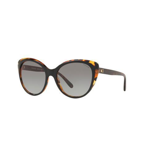 COACH Black/Tortoise Acetate Sunglasses 0HC8260F54461155