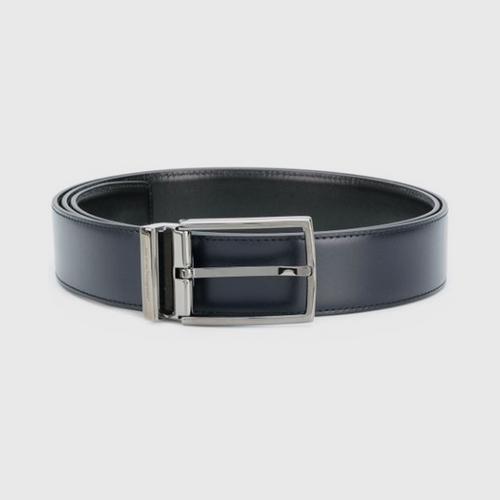 SALVATORE FERRAGAMO Reversible and Adjustable Belt with Rectangular Buckle