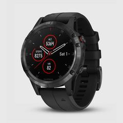GARMIN Fenix 5 Plus Saphire - Carbon Gray with Black band