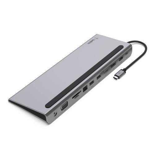 Belkin Connect USB-C3.1 11-in-1 Multiport Dock - Grey