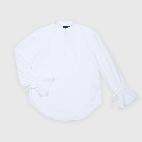 POLO RALPH LAUREN Broadcloth Cotton Top - WHITE S