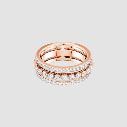 SWAROVSKI Further Ring, White, Rose gold plating - Size 55