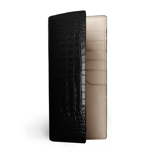CONTAINER Long Wallet Embossed Crocodile - Black