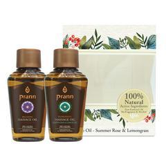 PRABB Rose&Lemongrass Massage Oil Mini Set (2x30 ml)