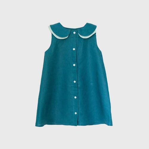TINY MOON Sadie Dress 2-3Y - Ocean