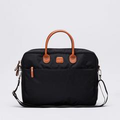 BRIC'S X-Travel Medium Briefcase (Black) 0.50 kg