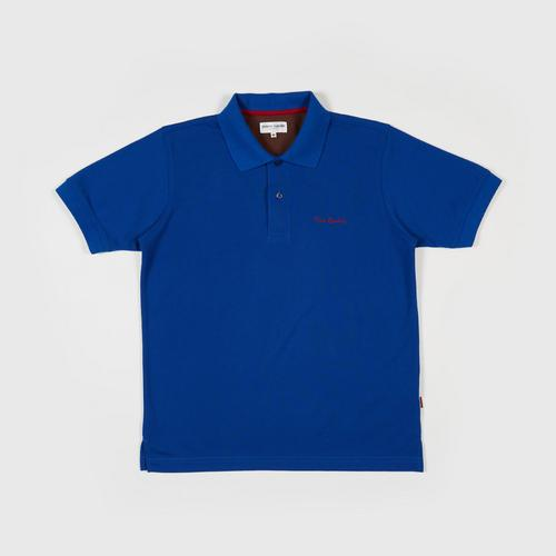 PIERRE CARDIN Polo Shirt - M DARK BLUE