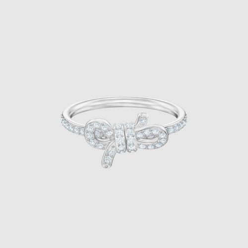 SWAROVSKI Lifelong Ring, Small, White, Rhodium plated - Size 55