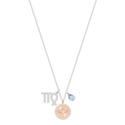 SWAROVSKI Zodiac Pendant, Virgo, Violet, Rhodium plating