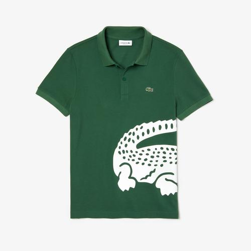 LACOSTE Men's Lacoste Regular fit Oversized Crocodile Print Polo Shirt - 4