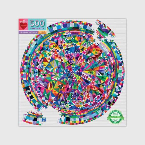 EEBOO - Triangle Pattern 500pc Round Puzzle