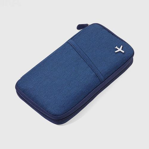 Troika Slim Travel Wallet with RFID Protection - Dark Blue